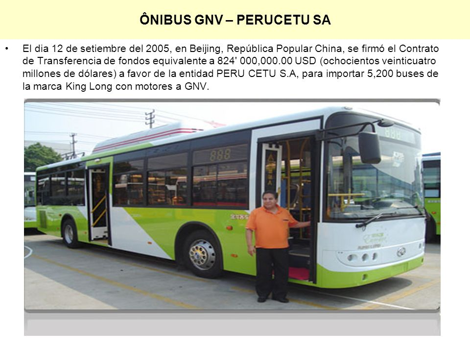 ÔNIBUS GNV – PERUCETU SA