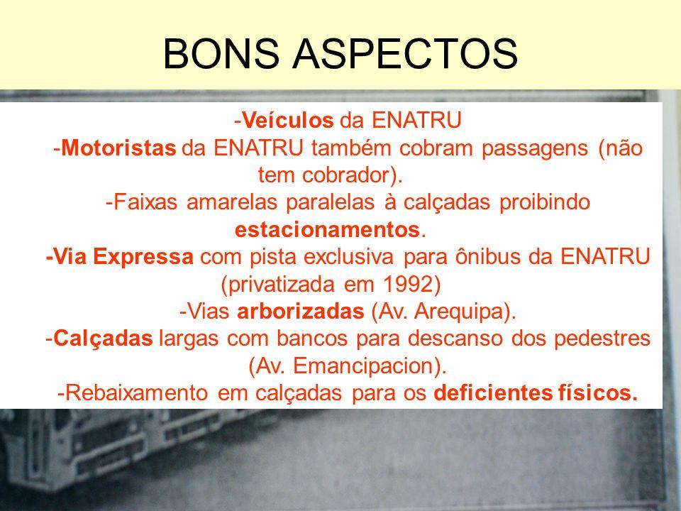 BONS ASPECTOS -Veículos da ENATRU