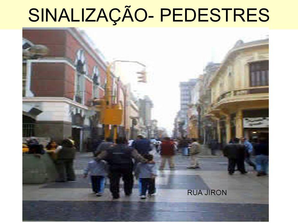 SINALIZAÇÃO- PEDESTRES