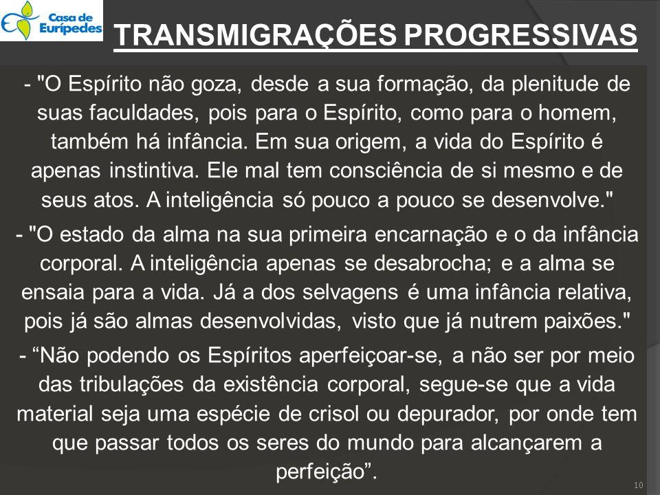TRANSMIGRAÇÕES PROGRESSIVAS