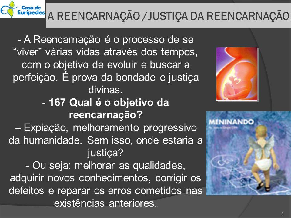 A REENCARNAÇÃO /JUSTIÇA DA REENCARNAÇÃO