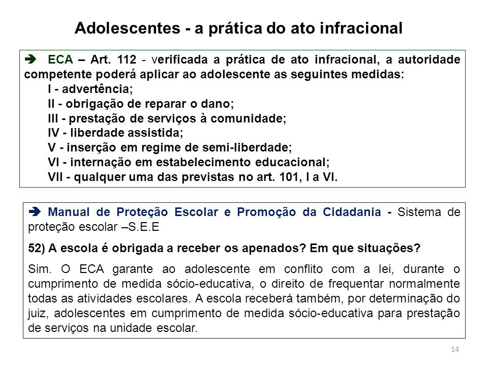 Adolescentes - a prática do ato infracional