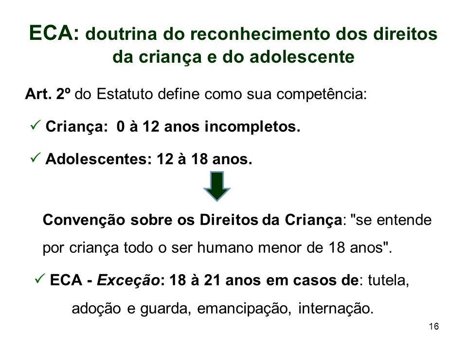 ECA: doutrina do reconhecimento dos direitos da criança e do adolescente