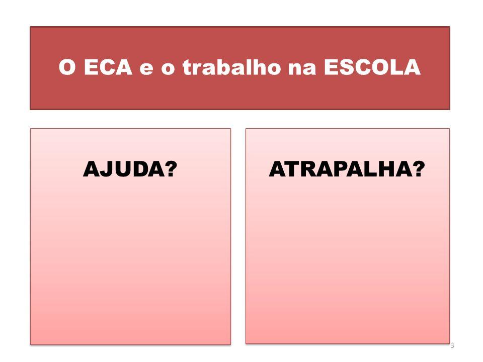 O ECA e o trabalho na ESCOLA