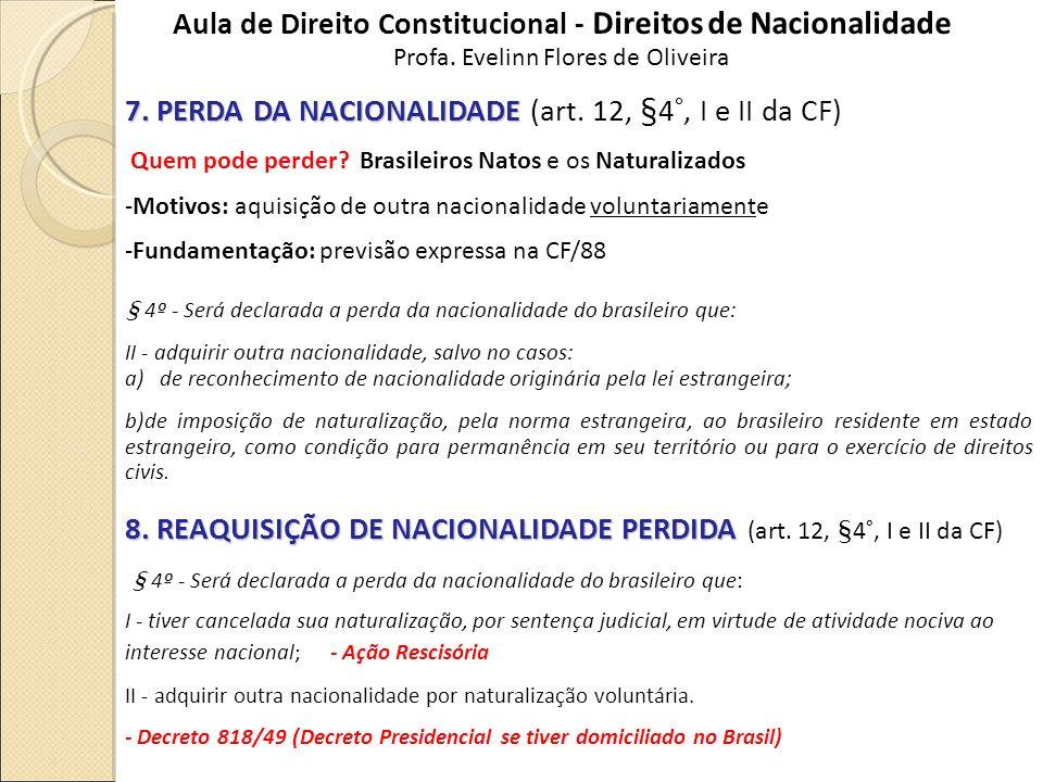 Aula de Direito Constitucional - Direitos de Nacionalidade
