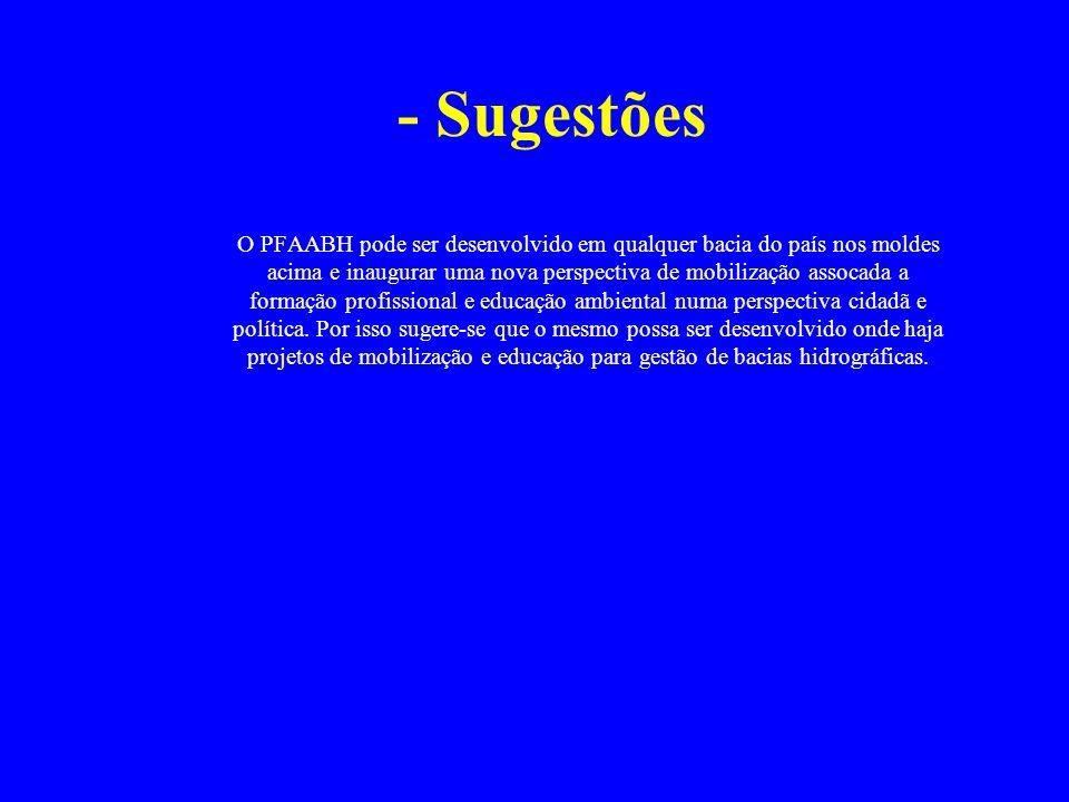 - Sugestões