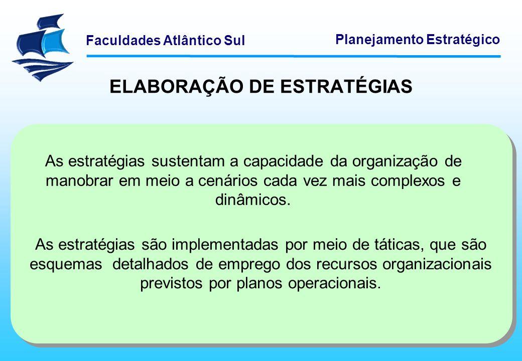 ELABORAÇÃO DE ESTRATÉGIAS