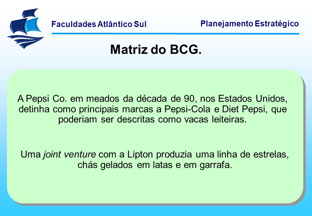 Matriz do BCG.