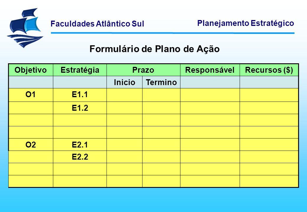 Formulário de Plano de Ação
