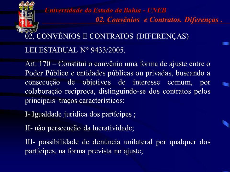 02. Convênios e Contratos. Diferenças .