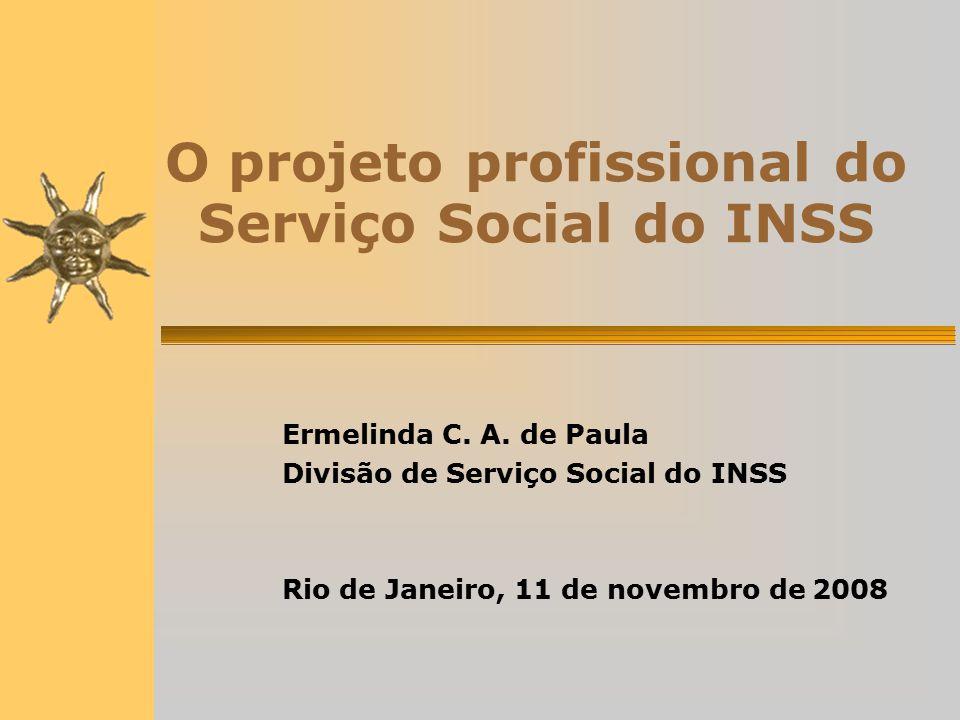 O projeto profissional do Serviço Social do INSS