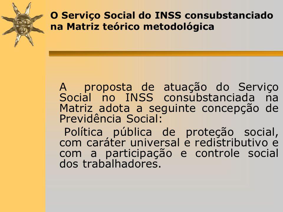 O Serviço Social do INSS consubstanciado na Matriz teórico metodológica