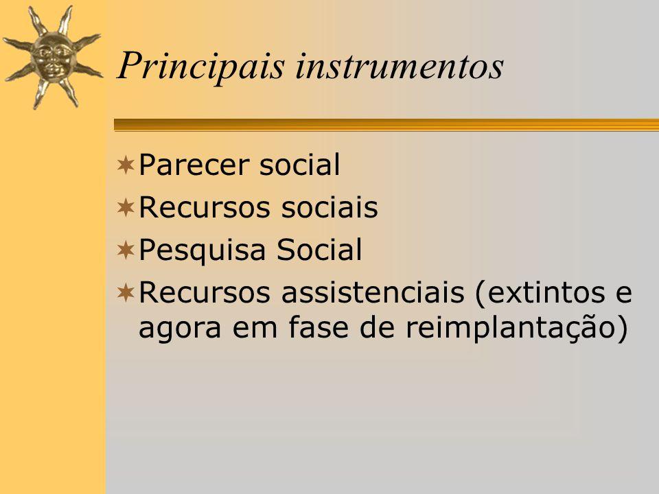 Principais instrumentos