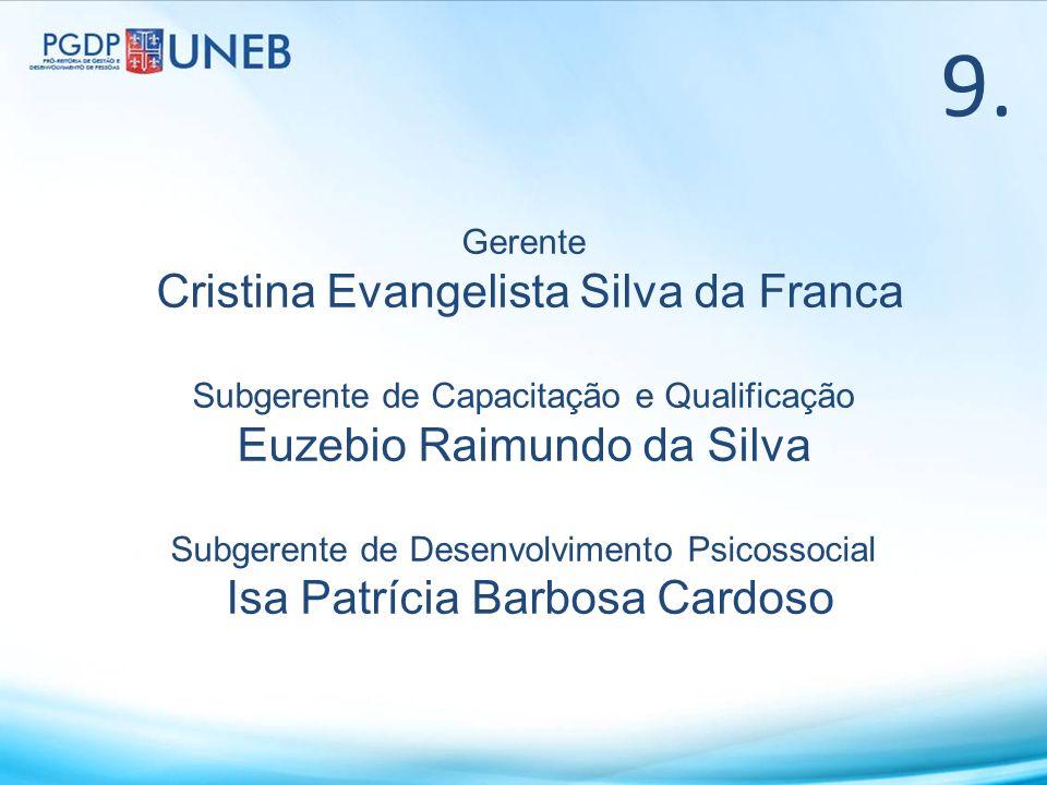 9. Cristina Evangelista Silva da Franca Euzebio Raimundo da Silva