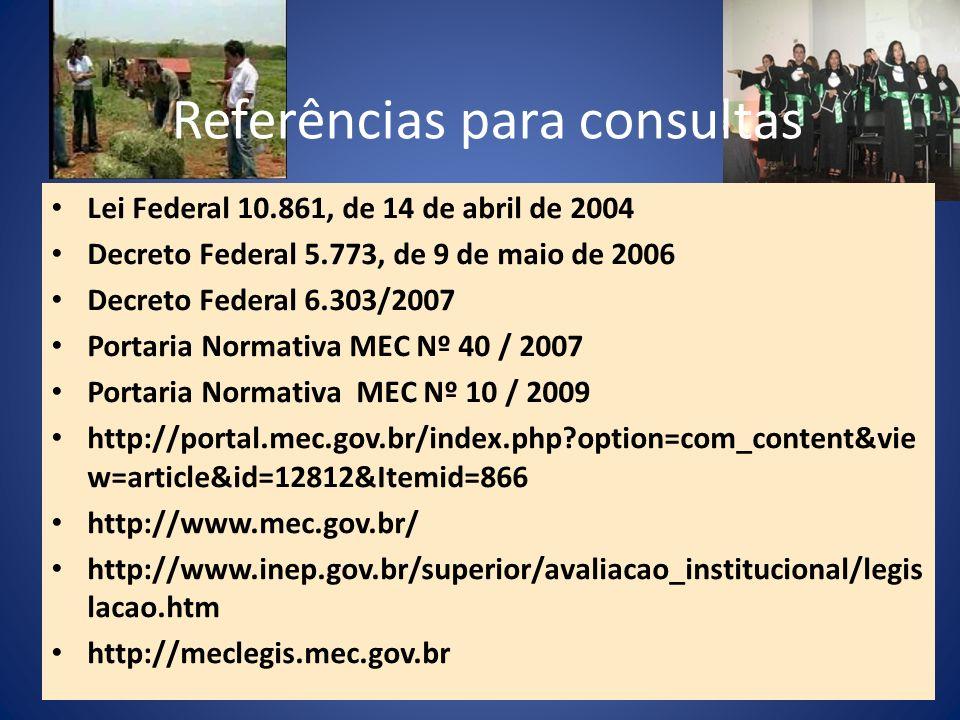 Referências para consultas