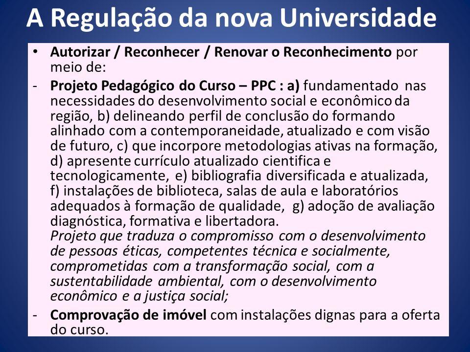 A Regulação da nova Universidade