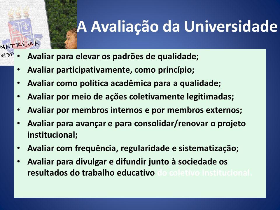 A Avaliação da Universidade
