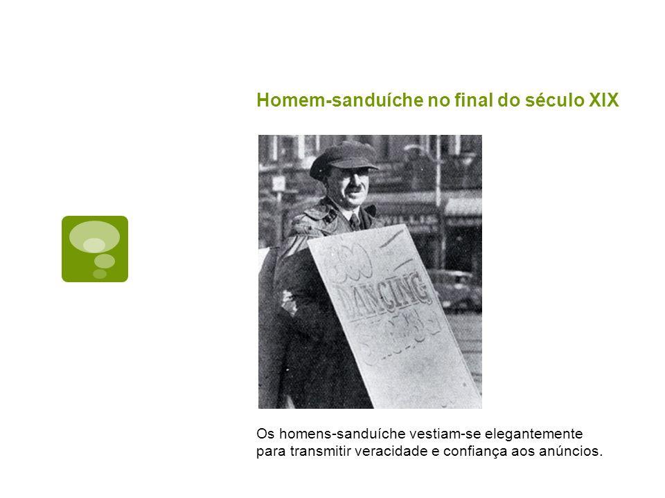 Homem-sanduíche no final do século XIX