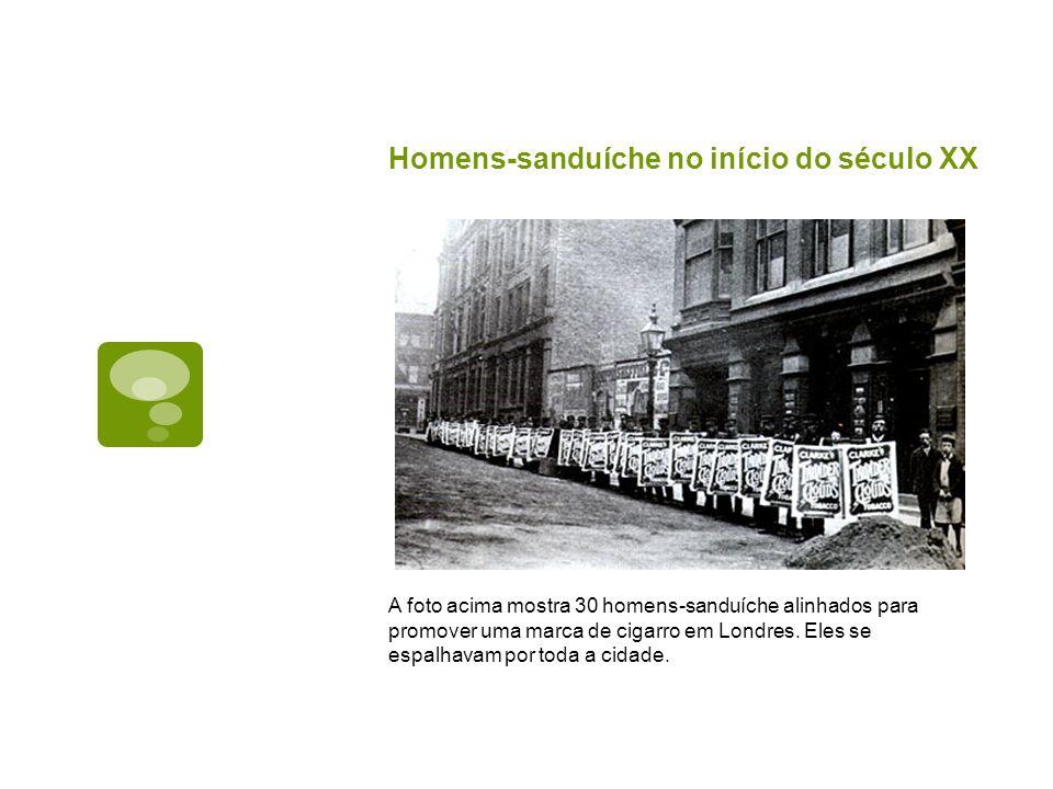 Homens-sanduíche no início do século XX