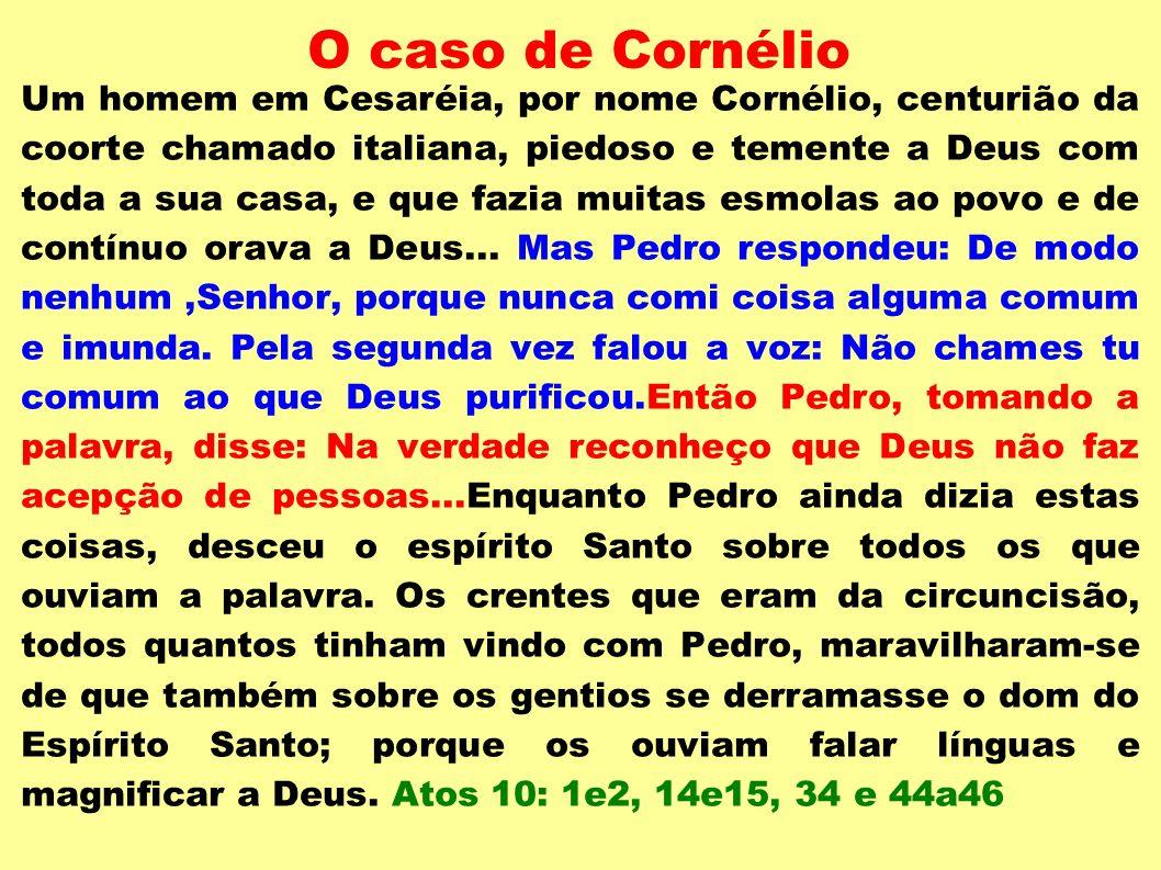 O caso de Cornélio