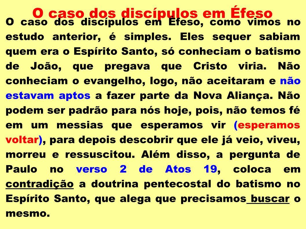 O caso dos discípulos em Éfeso