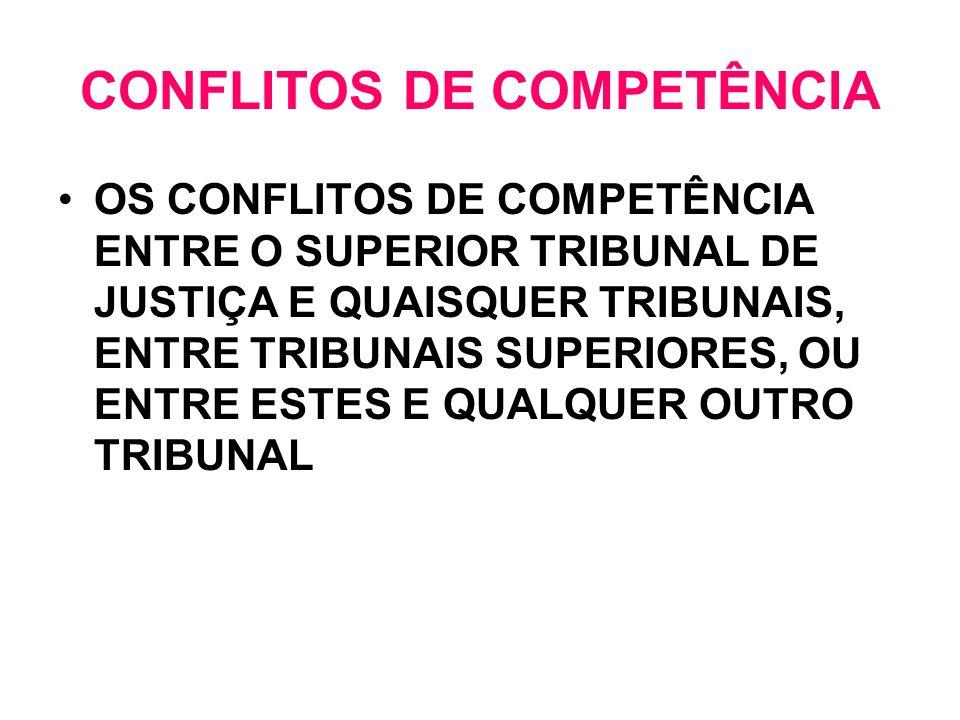 CONFLITOS DE COMPETÊNCIA