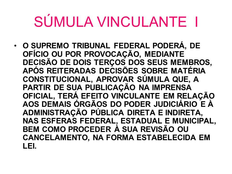 SÚMULA VINCULANTE I