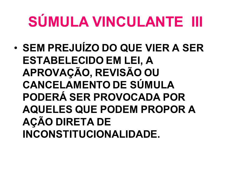 SÚMULA VINCULANTE III