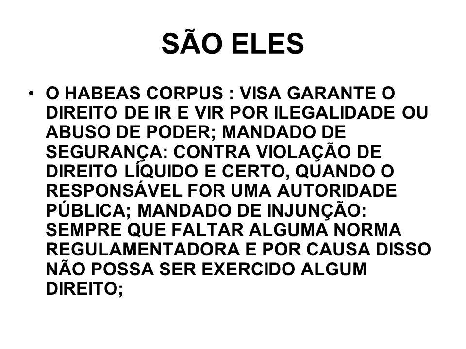SÃO ELES