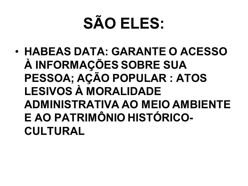 SÃO ELES: