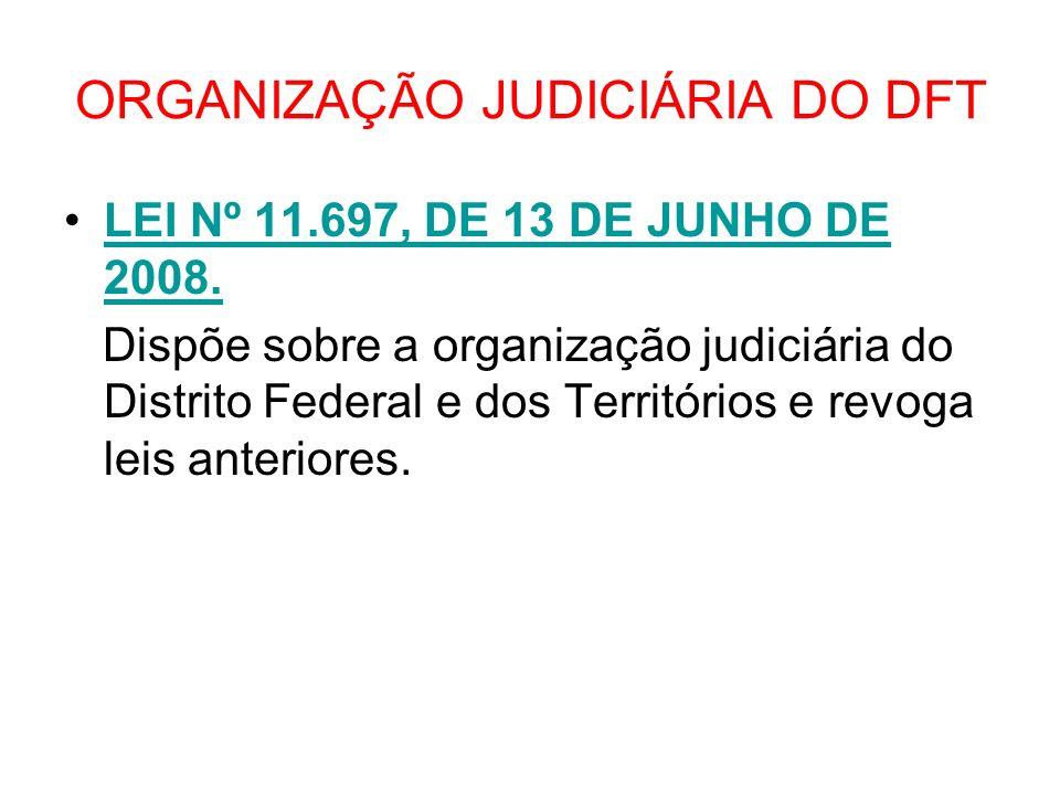 ORGANIZAÇÃO JUDICIÁRIA DO DFT