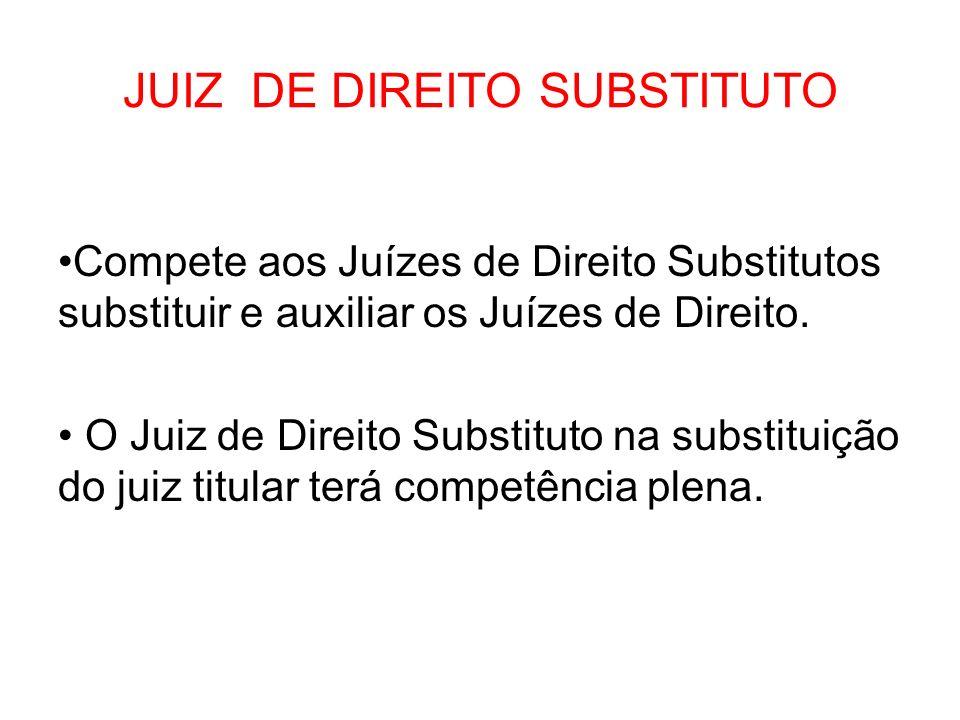 JUIZ DE DIREITO SUBSTITUTO