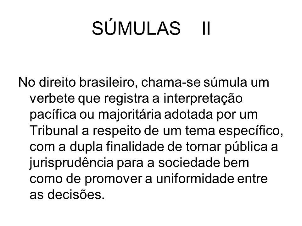 SÚMULAS II