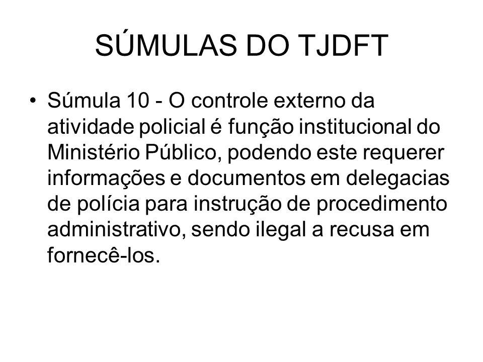 SÚMULAS DO TJDFT