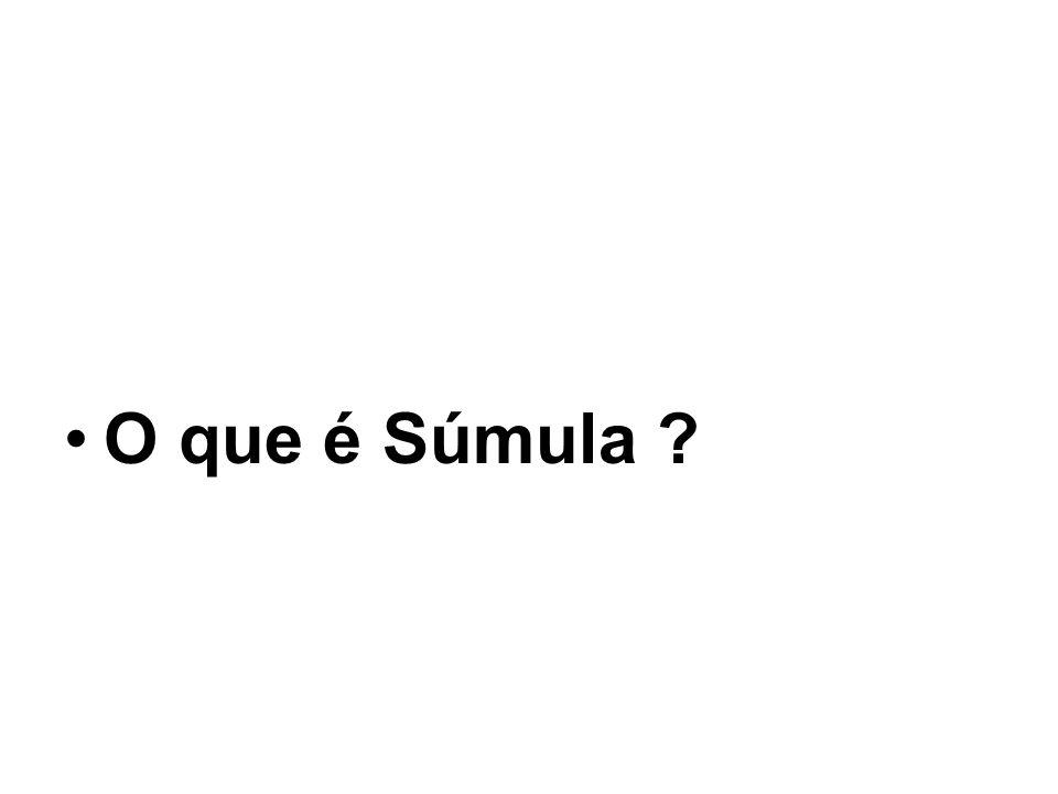 O que é Súmula