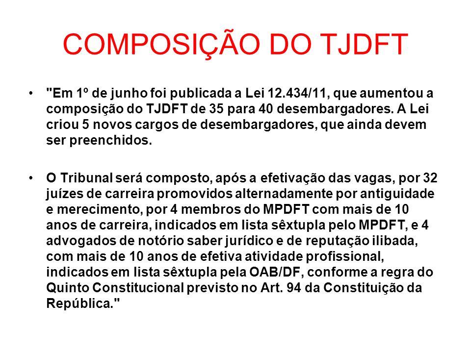 COMPOSIÇÃO DO TJDFT