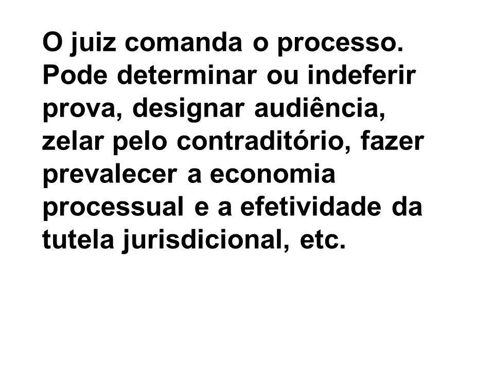 O juiz comanda o processo