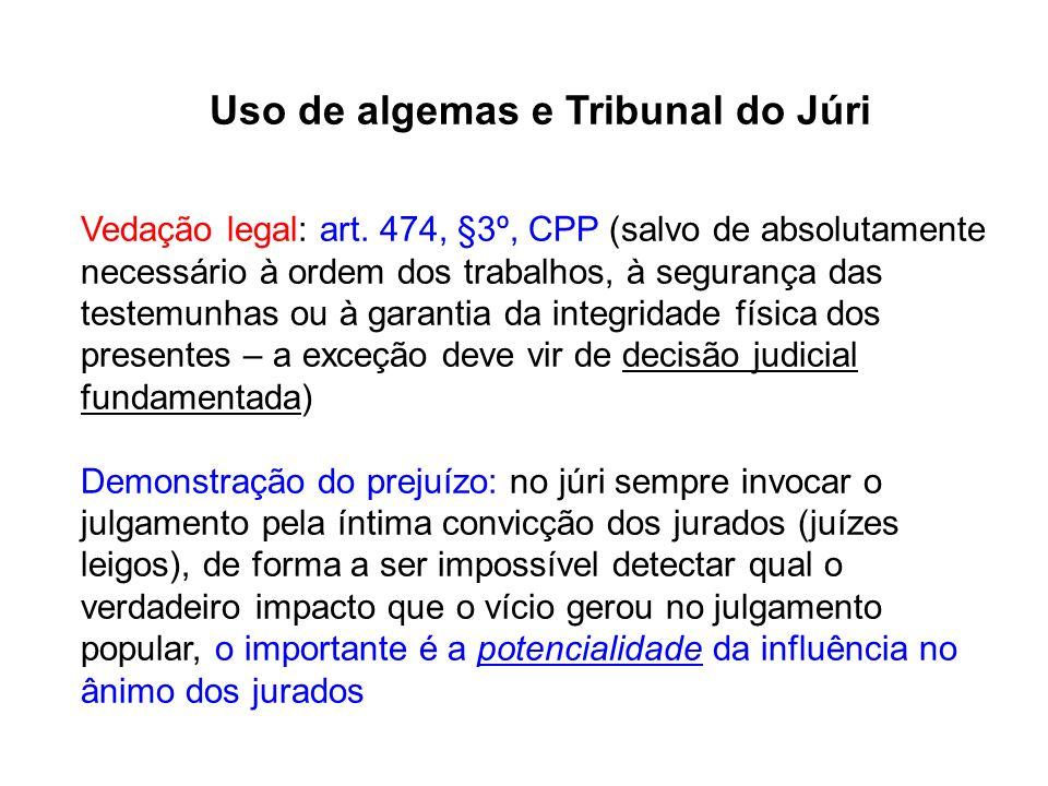Uso de algemas e Tribunal do Júri