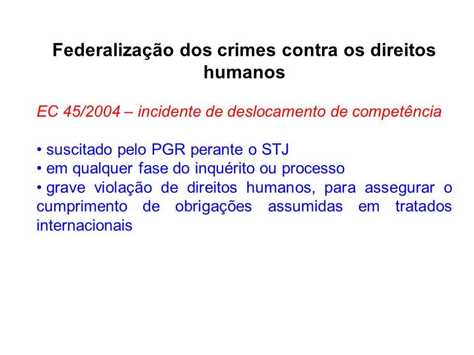 Federalização dos crimes contra os direitos humanos