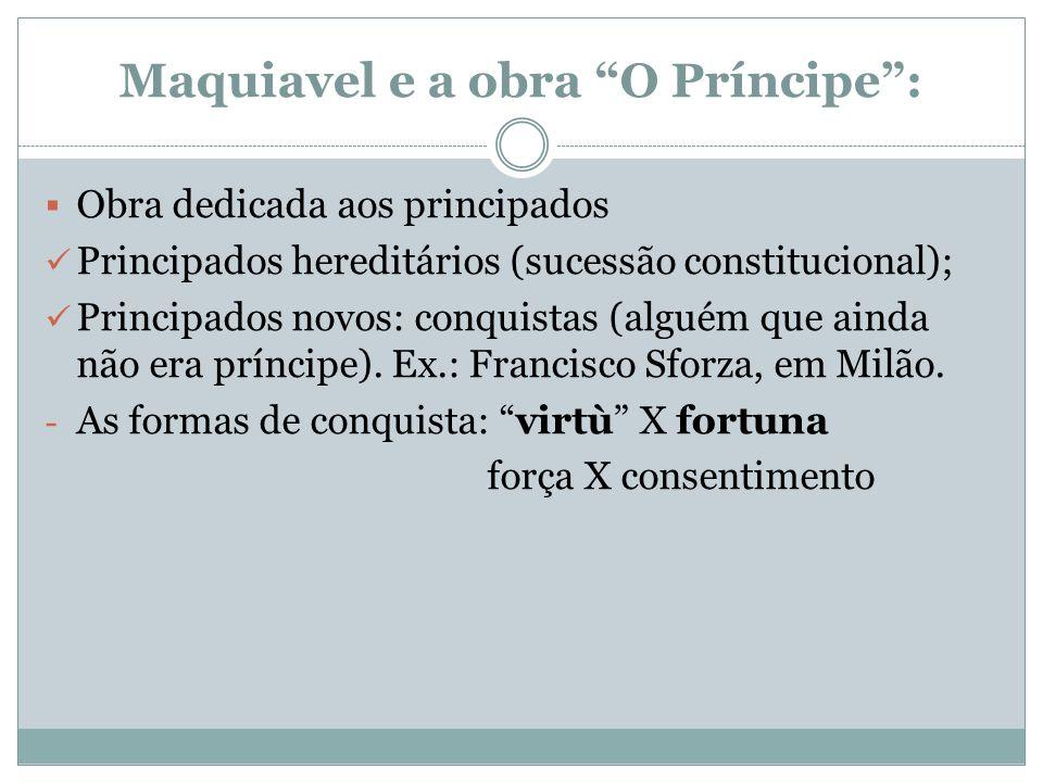 Maquiavel e a obra O Príncipe :