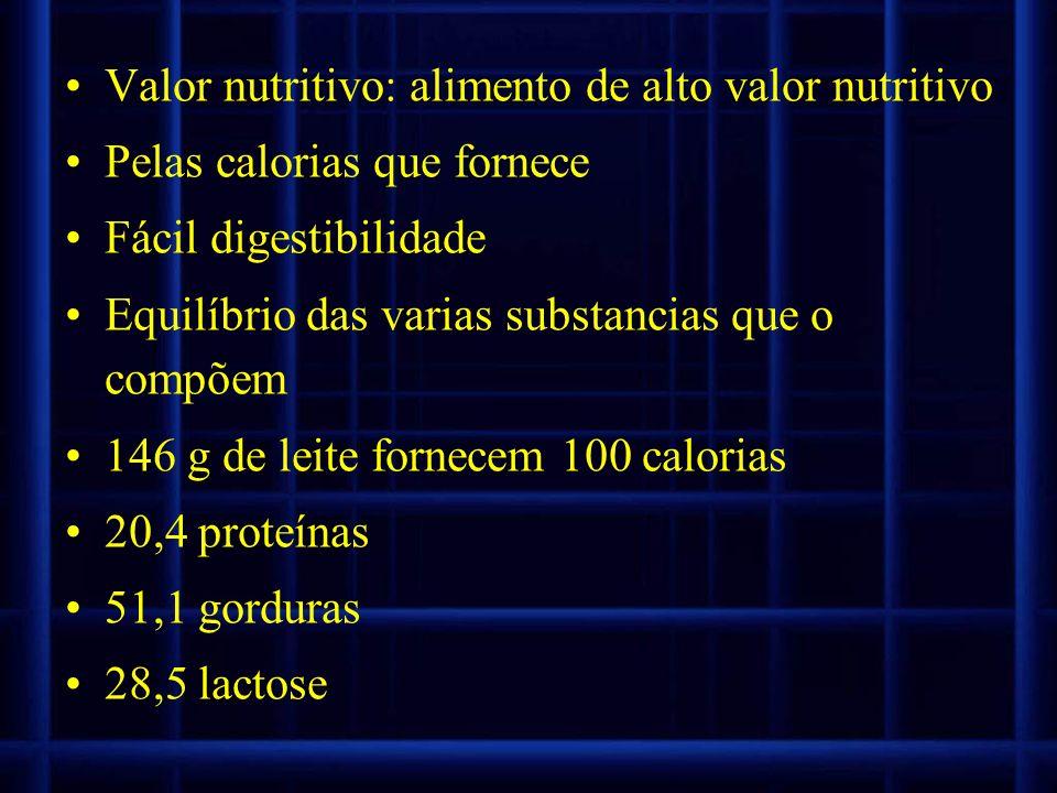 Valor nutritivo: alimento de alto valor nutritivo