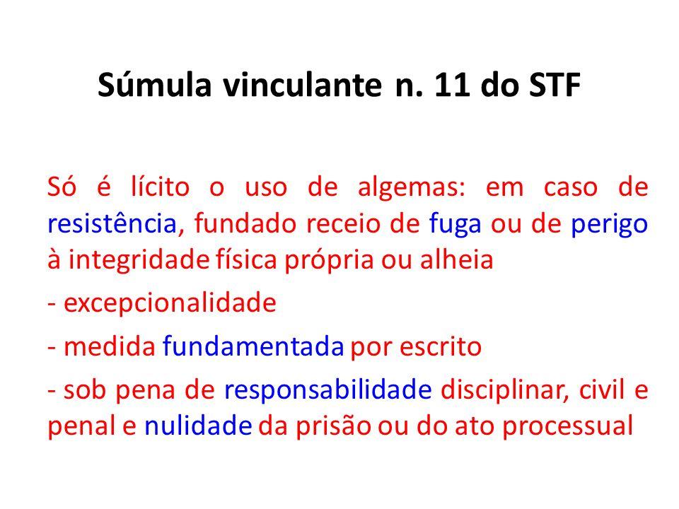 Súmula vinculante n. 11 do STF