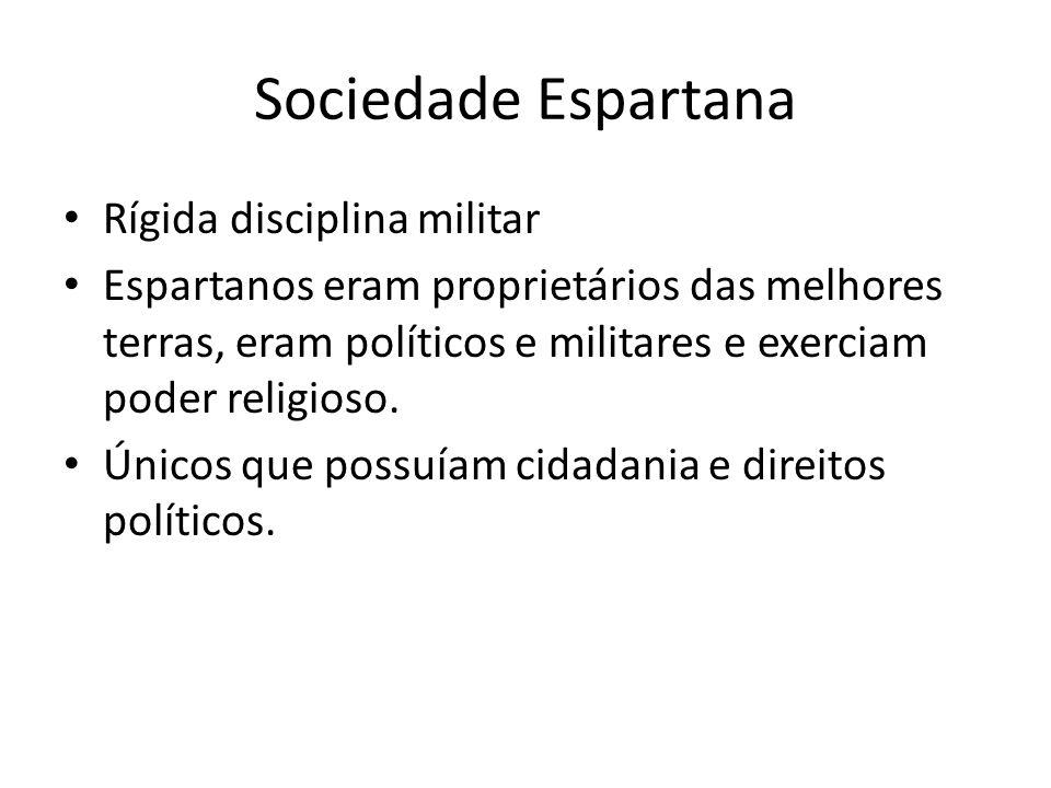 Sociedade Espartana Rígida disciplina militar