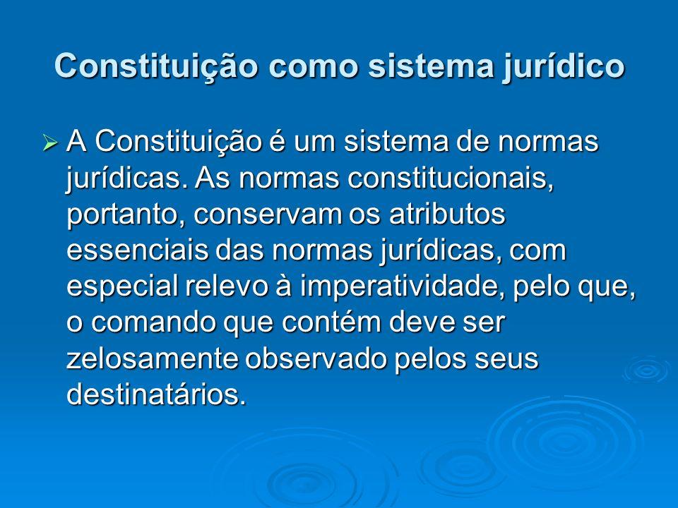 Constituição como sistema jurídico