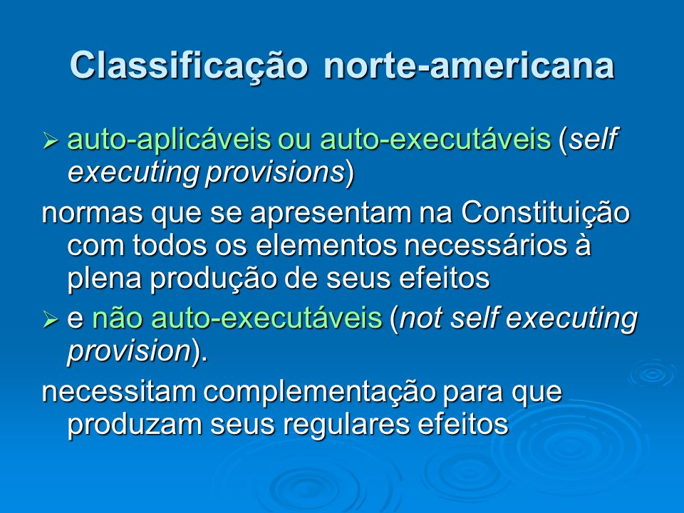 Classificação norte-americana