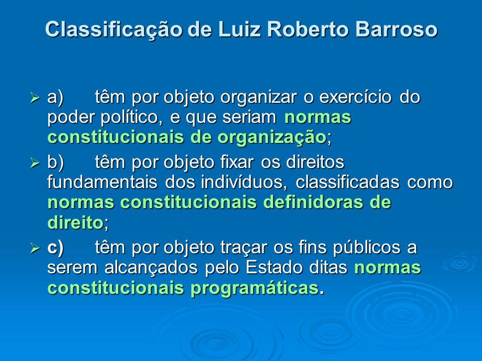 Classificação de Luiz Roberto Barroso