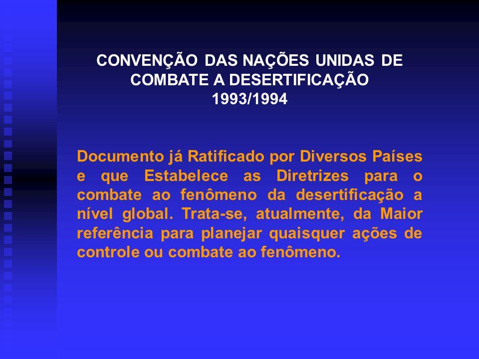 CONVENÇÃO DAS NAÇÕES UNIDAS DE COMBATE A DESERTIFICAÇÃO