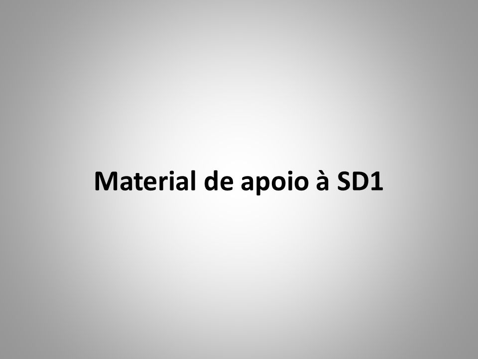 Material de apoio à SD1