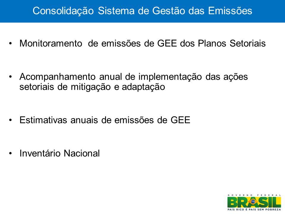 Consolidação Sistema de Gestão das Emissões