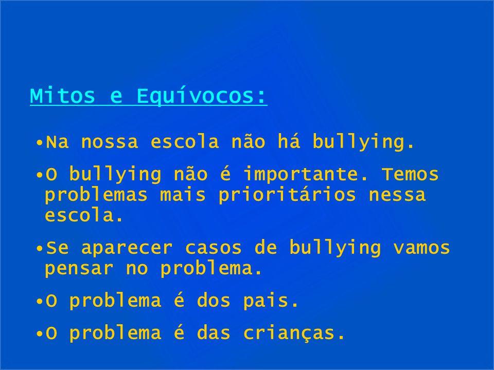 Mitos e Equívocos: Na nossa escola não há bullying.